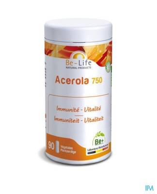 Acerola 750 Vitamines Be Life Nf Gel 90