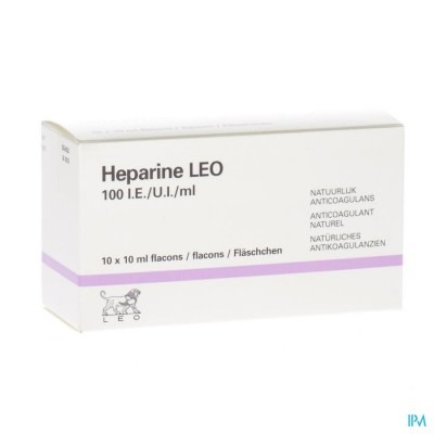 Heparine Leo 100 Ie/ml Fl 10x10ml