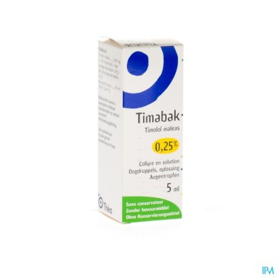 Timabak 0,25% Collyre 5ml 2,5mg/ml