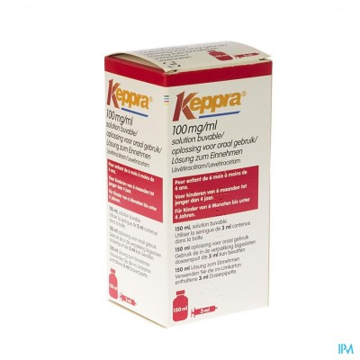 Keppra 100mg/1ml Per Os Fl 150ml+sp Or Toedie 3ml