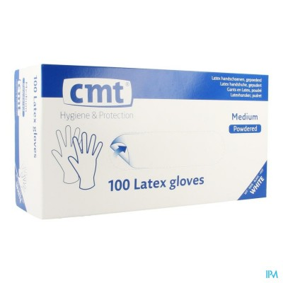 Cmt Handschoenen Latex Wit Lp M 100