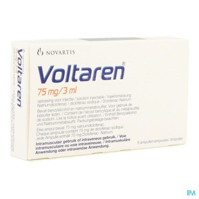 Voltaren Amp 6 X 75mg/3ml