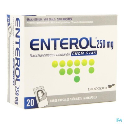 Enterol 250mg Caps Harde Dur S/blister 20x250mg